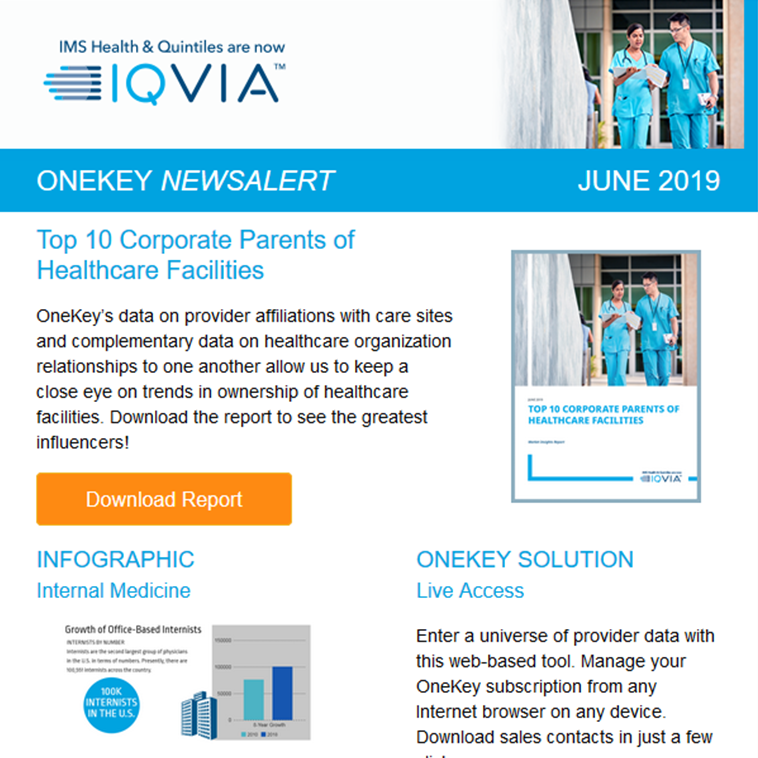 10 Healthcare Parents to Know | Internists Profiles | OneKey Passes Audit